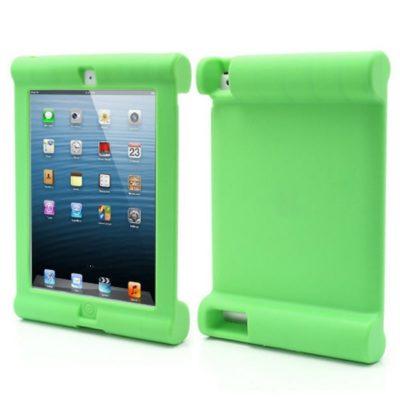 Apple iPad 2, 3, 4 Silikoonisuoja Vihreä