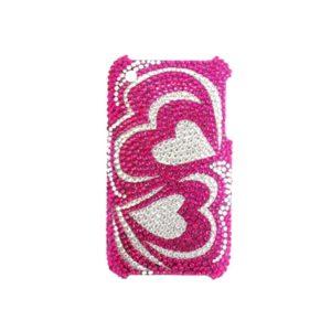 Apple iPhone 3G / 3GS Sydämet Glitter Kuoret