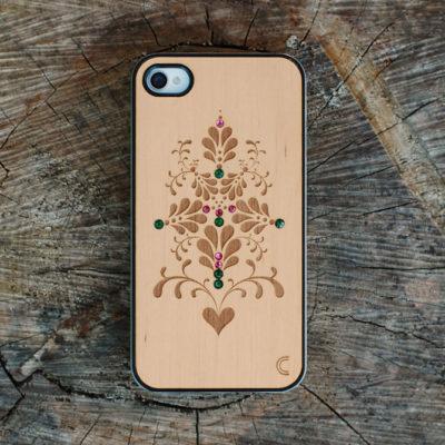 Apple iPhone 4 / 4S Kotelo Ornamentti Koristekivillä