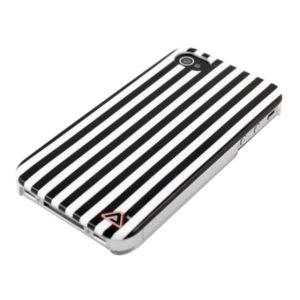 Apple iPhone 4 / 4S Raidat Kuori Mustavalkoinen