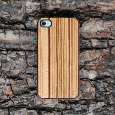 Apple iPhone 4 / 4S Puu Zebrawood Suojakotelo