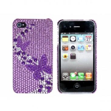 Apple iPhone 4 / 4S Timantti Kuori Perhoset