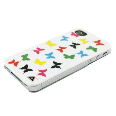 Apple iPhone 4 / 4S Värikkäät Perhoset Kuori