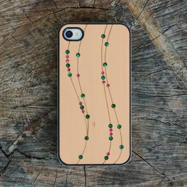 Apple iPhone 4 / 4S Viivat Koristekivillä Suojakotelo