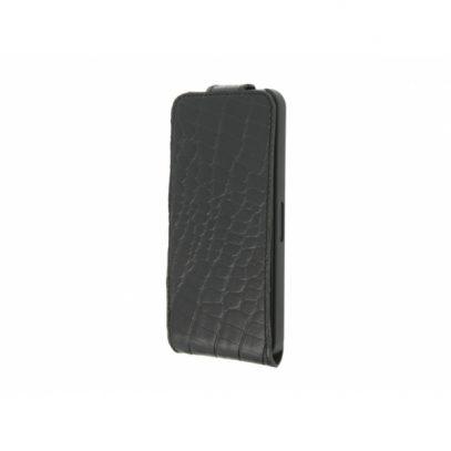 Apple iPhone 5 / 5S Krokotiili Läppäkotelo Musta