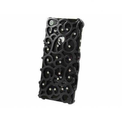 Apple iPhone 5 / 5S Allure Timantti Kuori Musta