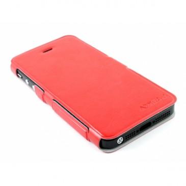 Apple iPhone 5 / 5S / SE Ohut Läppäkuori Punainen