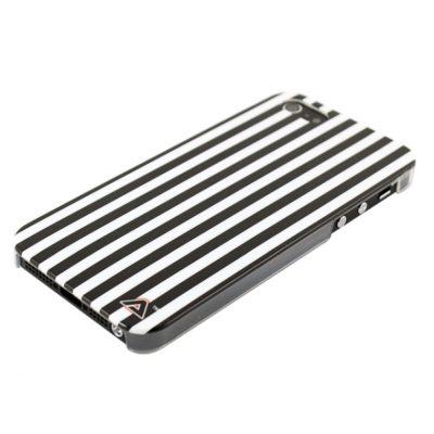 Apple iPhone 5 / 5S Raidat Kuori Mustavalkoinen
