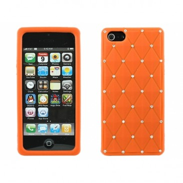 Apple iPhone 5 / 5S / SE Timantti Kuori Oranssi