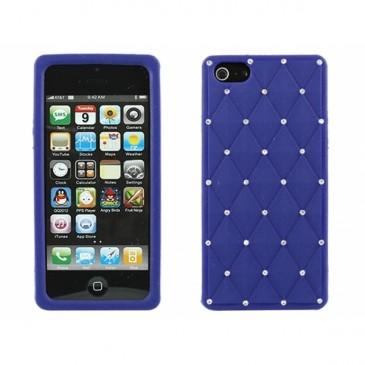 Apple iPhone 5 / 5S / SE Timantti Kuori Tummansininen