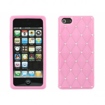 Apple iPhone 5 Timantti Kuori Vaaleanpunainen