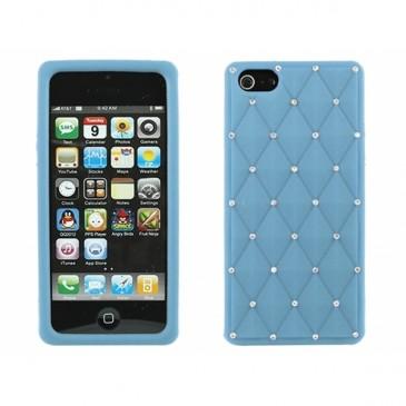 Apple iPhone 5 / 5S / SE Timantti Kuori Vaaleansininen