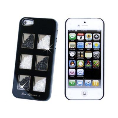 Apple iPhone 5 Musta Kuori Must./Valk. Kivillä