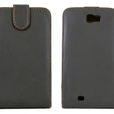 Samsung Galaxy Note 2 Flip Cover – Musta Läppäkotelo