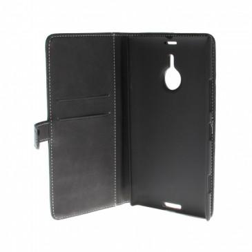 Nokia Lumia 1520 Läppäkotelo Musta Nahka