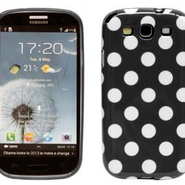 Samsung Galaxy S3 Musta Kuori Valkoisilla Pisteillä