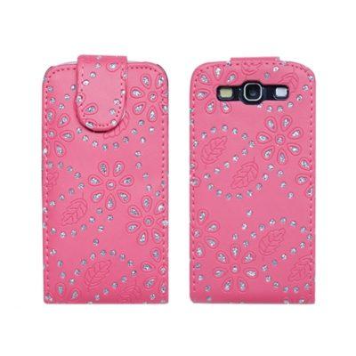 Samsung Galaxy S3 Pinkki Timantti Läppäkotelo