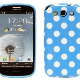Samsung Galaxy S3 Sininen Kuori Valkoisilla Pisteillä