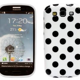 Samsung Galaxy S3 Valkoinen Mustilla Pisteillä
