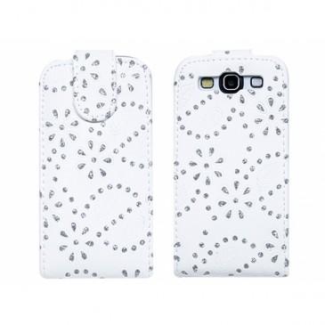 Samsung Galaxy S3 Valk. Timantti Läppäkotelo