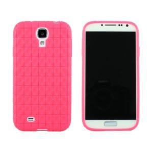 Samsung Galaxy S4 Ruutuja Geeli Kuori Pinkki