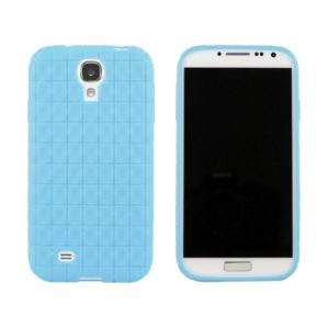 Samsung Galaxy S4 Ruutuja Geeli Kuori Vaaleansininen
