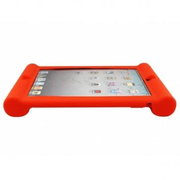 Apple iPad 2, 3, 4 Silikoonisuoja Punainen
