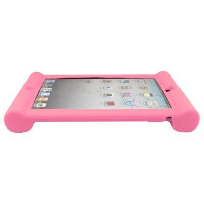 Apple iPad 2, 3, 4 Silikooni Suoja Vaaleanpunainen