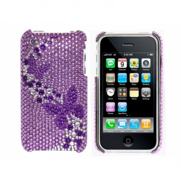 Apple iPhone 3G / 3GS Perhoset Glitter Kuoret