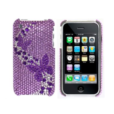 Apple iPhone 3G / 3GS Perhoset Glitter Kuoret