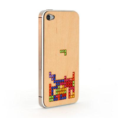 Apple iPhone 4 / 4S Blocks Puukuori Koristekivillä