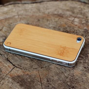 Apple iPhone 4 / 4S Caramel Bamboo Bambu Puukuori