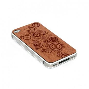 Apple iPhone 4 / 4S Gears Kaiverrettu Puukuori