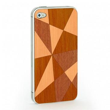 Apple iPhone 4 / 4S Mosaiikki Puukuori Useaa Puuta