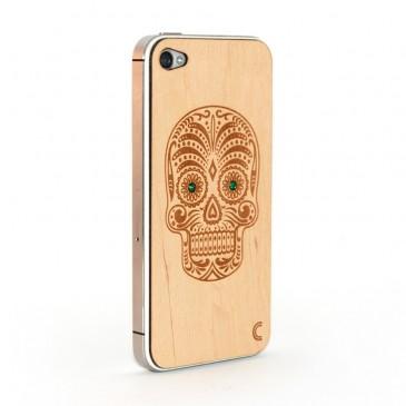 Apple iPhone 4 / 4S Sugar Skull Kuori Koristekivillä
