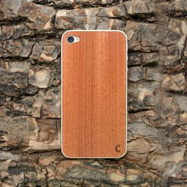 Apple iPhone 4 / 4S Tyylikäs Mahonki Puukuori