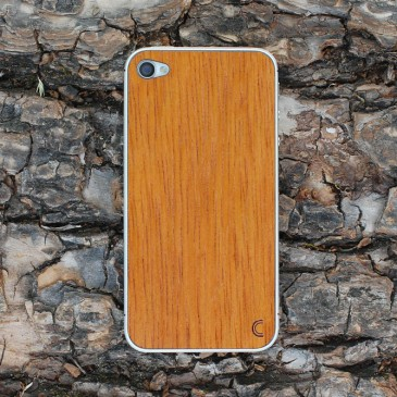 Apple iPhone 4 / 4S Tyylikäs Merbau Puukuori