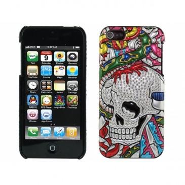 Apple iPhone 5 / 5S 3D Rock Pääkallo Suojakuori