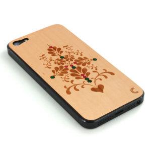 Apple iPhone 5 Ornamentti Puukuori K. kivillä