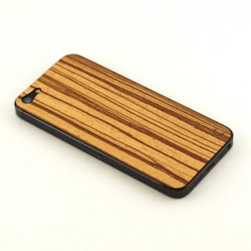 Apple iPhone 5 Tyylikäs Zebrawood Puukuori