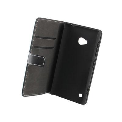 Nokia Lumia 720 Läppäkotelo Musta Nahka