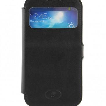 Samsung Galaxy S4 Musta Ikkunallinen Läppäkotelo