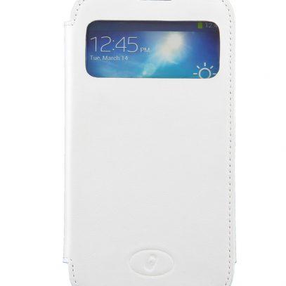 Samsung Galaxy S4 Valkoinen Ikkunallinen Läppäkotelo