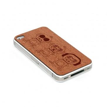 Apple iPhone 4 / 4S Apinat Mahonki Puukuori
