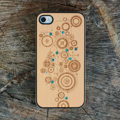 Apple iPhone 4 / 4S Gears Suojakotelo Koristekivillä