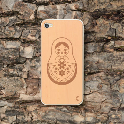 Apple iPhone 4 / 4S Maatuska Leppä Puukuori