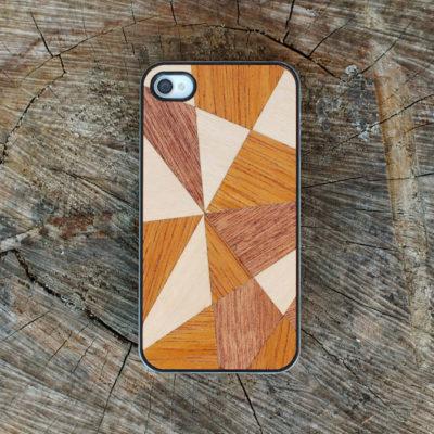 Apple iPhone 4 / 4S Mosaiikki Puu Suojakotelo