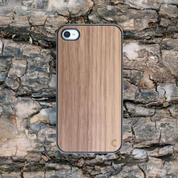 Apple iPhone 4 / 4S Pähkinä Puu Suojakotelo
