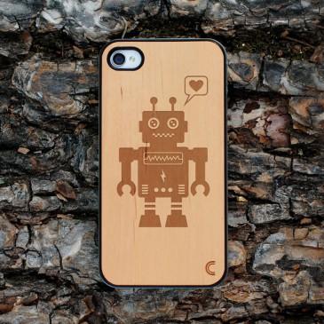 Apple iPhone 4 / 4S Robotti Leppä Suojakotelo