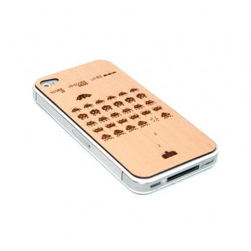 Apple iPhone 4 / 4S Space Invaders Puukuori